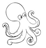 Coloring book - octopus Stock Photo