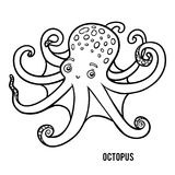 Coloring book, Octopus royalty free illustration