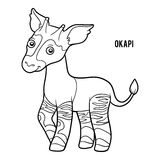 Coloring book, Okapi royalty free illustration