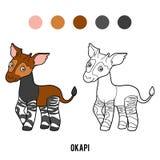 Coloring book, Okapi Stock Photography