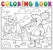 Coloring book orc theme 2 Royalty Free Stock Photos