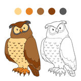 Coloring book (owl) Royalty Free Stock Photos