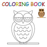 Coloring book - owl Stock Image