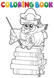 Coloring book owl teacher theme 2 Stock Images