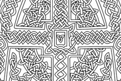 Coloring book page with abstract celtic art Royalty Free Stock Photo