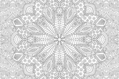Coloring book page with abstract linear pattern stock photo