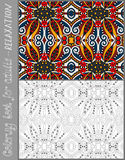 Coloring book page for adults - flower paisley Stock Photo