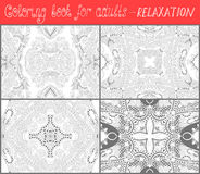 Coloring book page for adults - flower paisley Stock Image