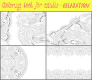 Coloring book page for adults - flower paisley Royalty Free Stock Images