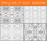 Coloring book page for adults - flower paisley Royalty Free Stock Image