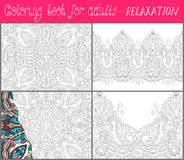 Coloring book page for adults - flower paisley Stock Photography