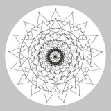 Coloring book page for adults line art creation, heart and flowers, relax and meditation Stock Photos