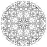 Coloring book page for adults - zendala, joy to Stock Photography
