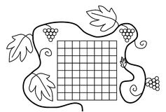Coloring book page black white school timetable Royalty Free Stock Image