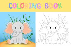 Coloring book or page for children of school and preschool age. Developing children s coloring. Vector cartoon Royalty Free Stock Image