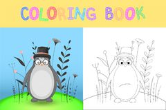 Coloring book or page for children of school and preschool age. Developing children s coloring. Vector cartoon Stock Photo