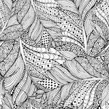 Coloring book page design with Feather Pattern. Ethnic ornament. Stock Photography