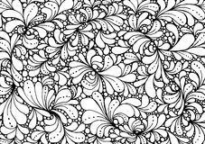 Coloring book page design with floral petals. Ethnic ornament. Vector illustration in doodle style. Stock Photography