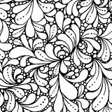 Coloring book page design with floral petals. Ethnic ornament. Vector illustration in doodle style. Stock Image