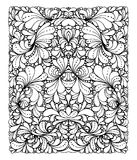 Coloring book page design with pattern. Symmetric ethnic ornament. Royalty Free Stock Image