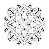 Coloring book page with ethnic ornaments. Decorative mandala. Good for coloring books and zentangle vector illustration