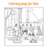 Coloring book page for kids Royalty Free Stock Photo