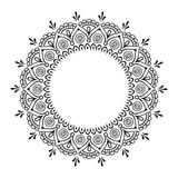 Coloring book pages for kids and adults. Hand drawn abstract design. Decorative Indian mandala Royalty Free Stock Photography