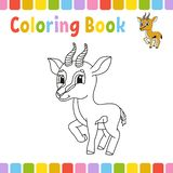 Coloring book pages for kids. Cute cartoon vector illustration.  stock illustration