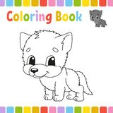 Coloring book pages for kids. Cute cartoon vector illustration.  royalty free illustration