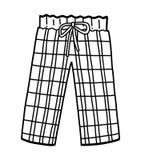 Coloring book, Pajama pants royalty free stock image