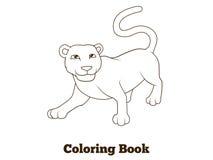 Coloring book panther african animal cartoon Stock Photography