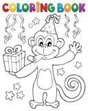 Coloring book party monkey theme 1 Stock Photography