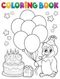 Coloring book party penguin topic 1 Royalty Free Stock Photography