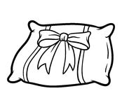 Coloring book, Pillow Royalty Free Stock Photo