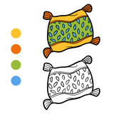 Coloring book, Pillow. Coloring book for children, Pillow stock illustration