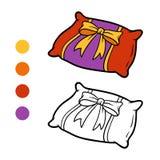 Coloring book, Pillow Stock Photo