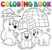 Coloring book with polar theme 1 royalty free illustration