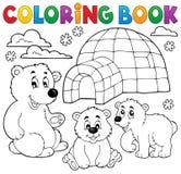 Coloring book with polar theme 1 Stock Photo