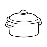 Coloring book, Pot. Coloring book for children, Pot Stock Images