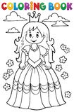Coloring book princess theme 3 Stock Images