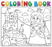 Coloring book princess topic image 1 stock image
