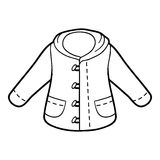 Coloring book, Pullover. Coloring book for children, Pullover Royalty Free Illustration