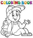 Coloring book pupil theme 4 Royalty Free Stock Photo