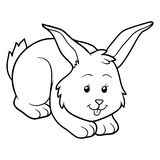 Coloring book (rabbit) stock illustration