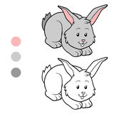 Coloring book (rabbit) Stock Image