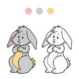 Coloring book (rabbit) Royalty Free Stock Images