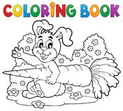 Coloring book rabbit theme 4 Royalty Free Stock Image