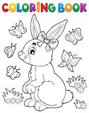 Coloring book rabbit topic 2 Royalty Free Stock Photos
