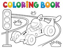 Coloring book racing car theme 1 royalty free illustration