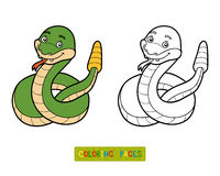 Coloring book, Rattlesnake Royalty Free Stock Photography